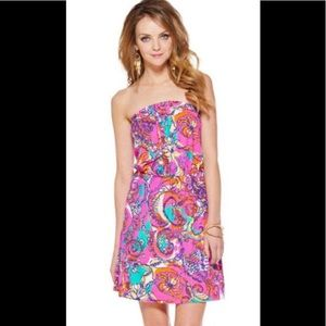 Lilly Pulitzer Multicolor Strapless Atwood Dress